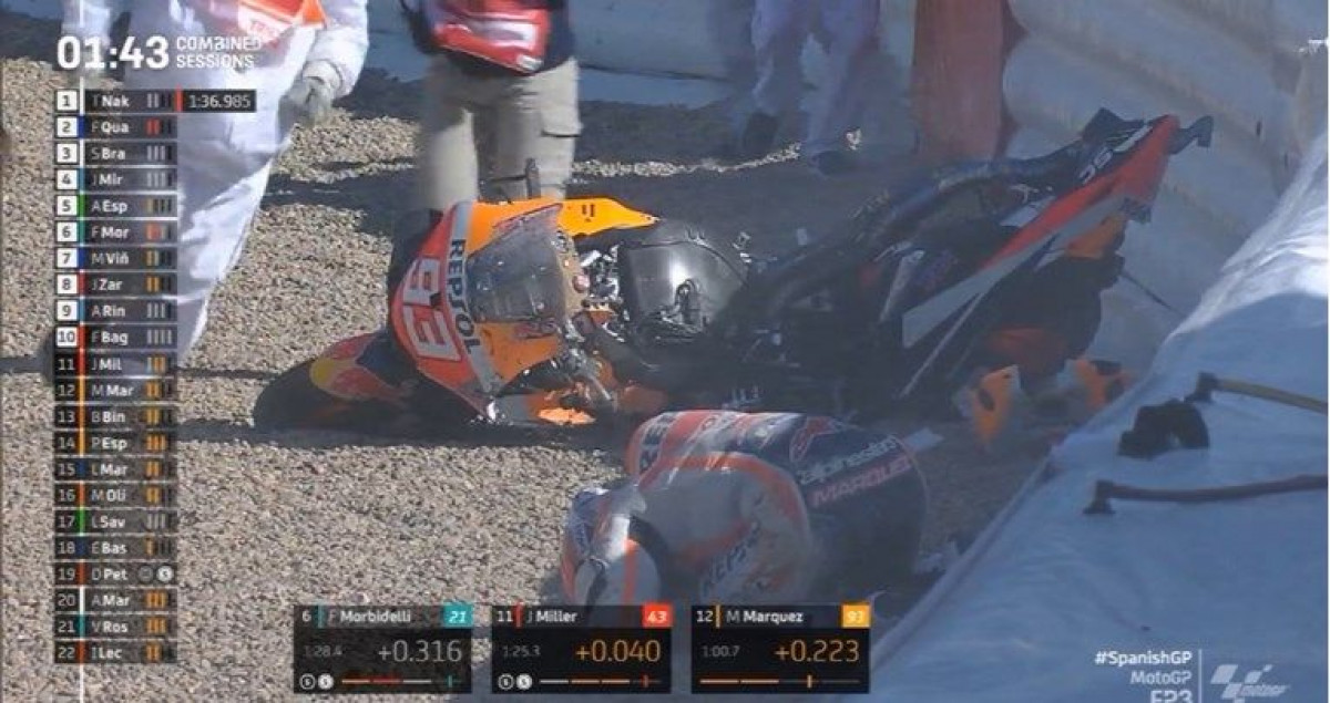Novi stravičan pad Marca Marqueza i to ponovo u Jerezu