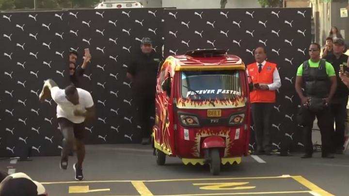 "Novi izazov: Bolt se trkao sa ""trokolicom"""