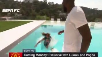 Pogba gurnuo novinarku u bazen