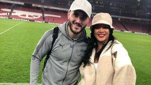 """Kolašinac se nakon utakmice družio sa """"amajlijom"""" Arsenala - Rihannom"""