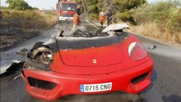Izgorio Ferrari Valencijinog veznjaka