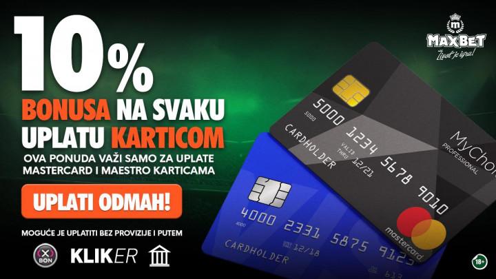 MaxBet nudi bonuse na elektronske uplate!
