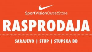 Rasprodaja u Sport Vision Outlet Store na Stupu