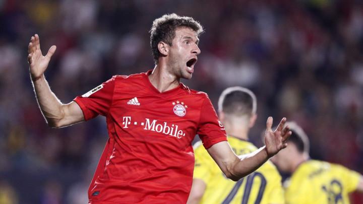 Thomas Muller je imao poseban užitak za gledanje utakmice