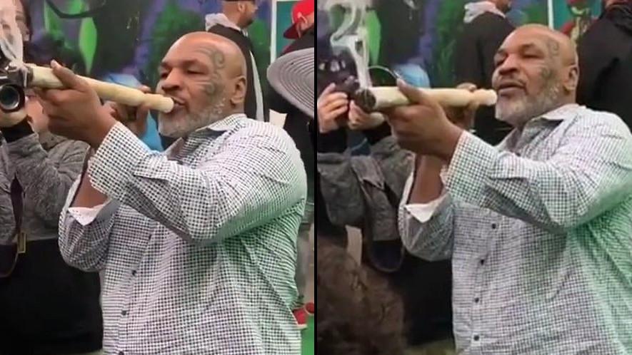 Bivši svjetski prvak Mike Tyson pred svima zapalio joint od pola metra