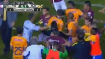 Ludnica u Meksiku: Opća tuča na terenu, Tigres prvak