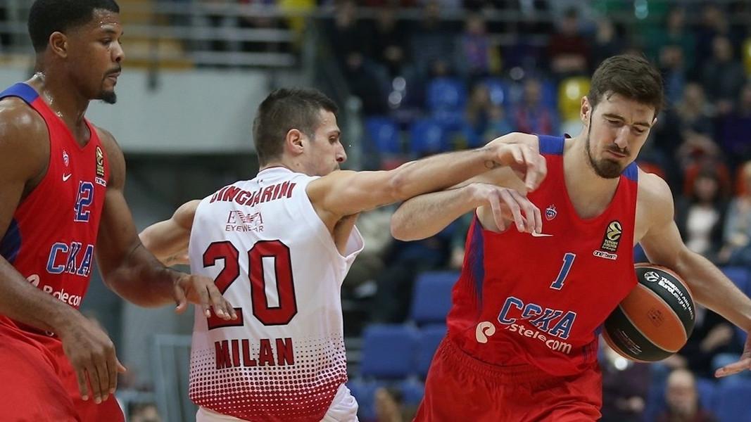 CSKA neporažen i nakon gostovanja u Milanu