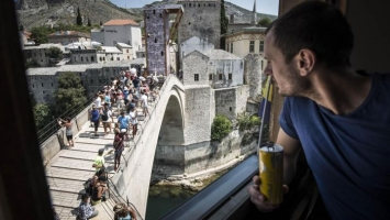 Pripreme za Red Bull Cliff Diving u Mostaru pri samom kraju