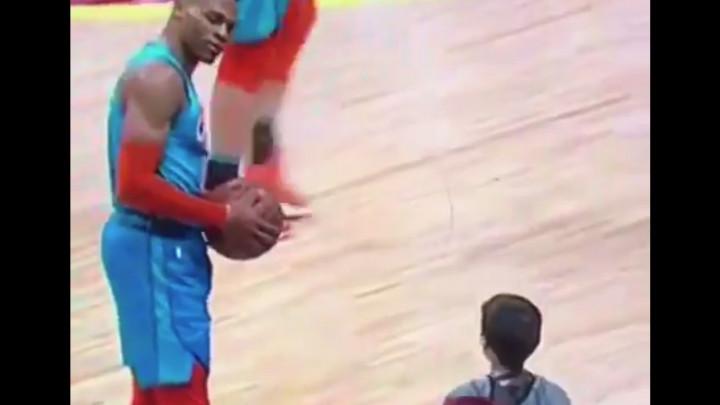 Westbrooka isprovocirao desetogodišnjak, nakon Russellovog pogleda dječak ostao prestrašen