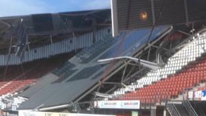 Krov stadiona se srušio, ali srećom niko nije povrijeđen