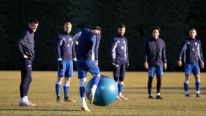 FK Željezničar odradio trening u Sport centru, Štilić nizao krugove oko stadiona