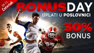 Bonus day u poslovnicama WWin - 30% bonusa na sve uplate u tom danu