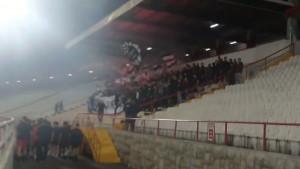 Ultrasi 'zapalili' stadion pod Bijelim Brijegom