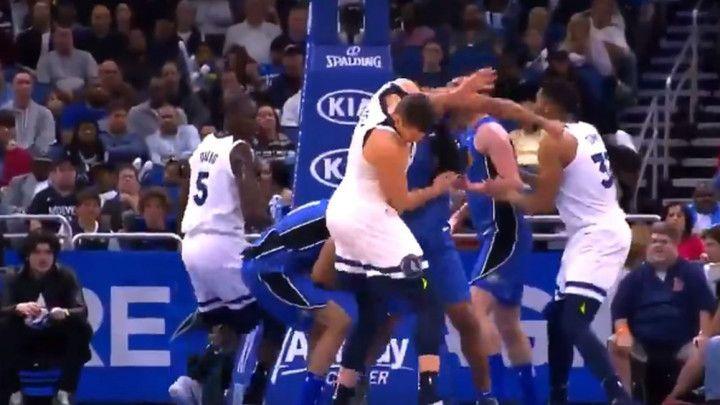 Žestoka tuča na NBA parketu: Bjelica je imao dosta sreće