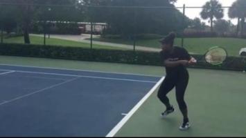 Serena Williams igra tenis u sedmom mjesecu trudnoće