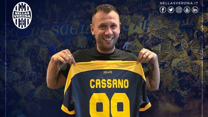Zvanično: Antonio Cassano potpisao za Veronu