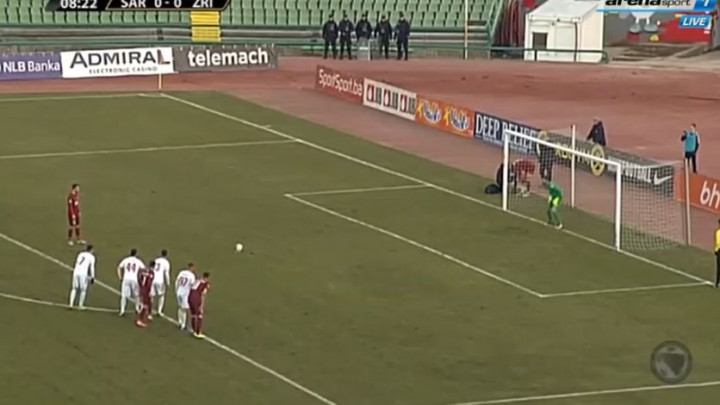 Krste Velkoski pogodio iz penala za vodstvo Sarajeva protiv Zrinjskog