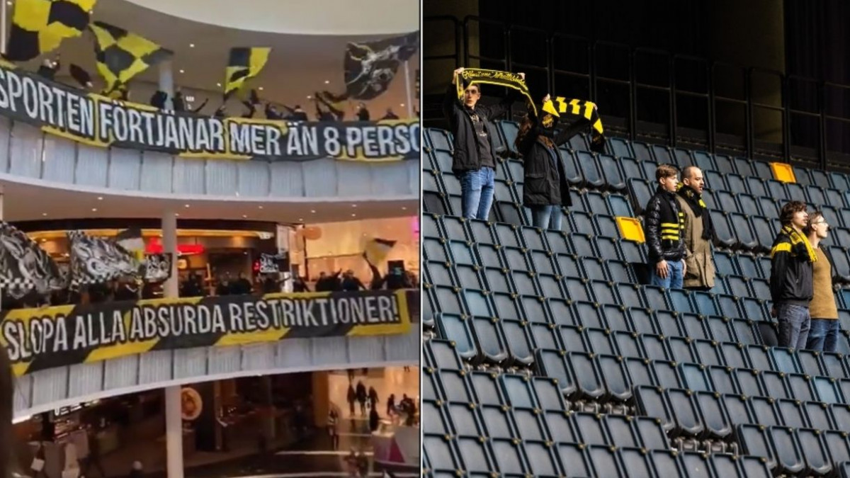 Apsurd u Švedskoj: Navijači napravili ludnicu u tržnom centru jer na stadion može samo njih osam
