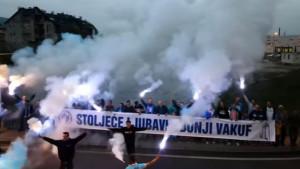 Željin se rođendan slavi i izvan Sarajeva: Bakljadom čestitali voljenom timu 'stotku'