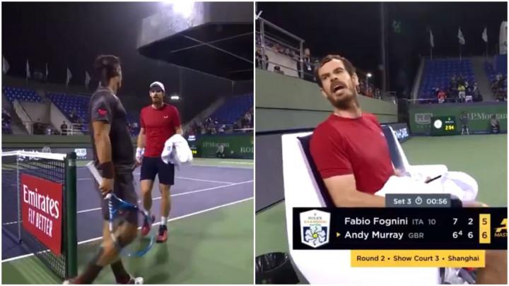 Nesvakidašnja scena na turniru u Šangaju: Fognini se nije 'gasio', a onda je Murray izgubio živce