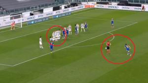 Krivac što je Parma zabila gol: Cristiano Ronaldo štitio svoje lice dok je bio u živom zidu