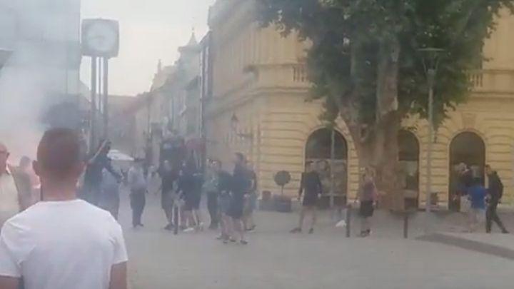 Obračun Torcide i Bad Blue Boysa na ulicama Vukovara