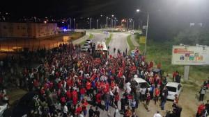 Ludilo u Mostaru: Spektakularan doček za igrače Veleža