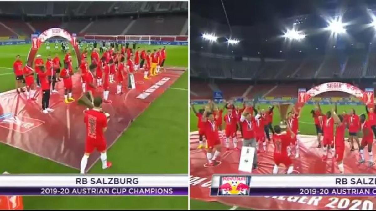 Proslava trofeja u doba korone: Ovakvo nešto nikada prije nije viđeno u fudbalu