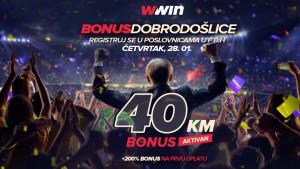 Ne propustite sjajnu priliku: Wwin - bonus dobrodošlice – Četvrtak 28.01.2021.