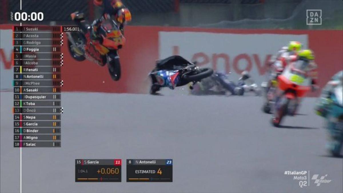 Težak incedent u Moto3: Stravičan sudar Sasakija i Dupasquiera, na stazu sletio i helikopter