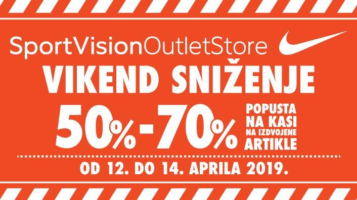 Vikend sniženje u Sport Vision Outlet Store