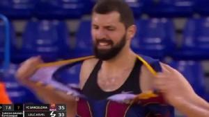 Mirotić od bijesa pocijepao dres Barcelone kao da je od papira i odmah dobio novi nadimak