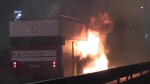 Haos na proslavi titule: Zapalio se autobus sa Zvezdinim fudbalerima