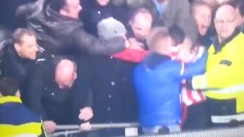Navijači PSV-a padali s tribine prilikom proslave gola