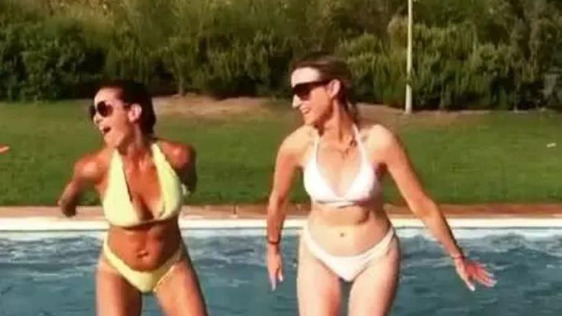 Lijepa novinarka Sky Sporta snimala skok u bazen, pa zaludjela muški dio publike