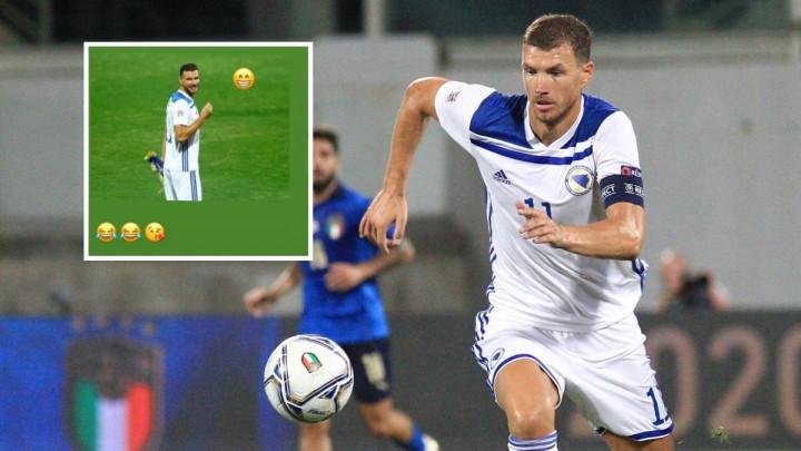 Reprezentativac Italije dobacivao Džeki pred utakmicu, a Dijamant mu odlučio odgovoriti