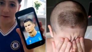 """Sin je htio frizuru kao CR7, a otac mu na glavi napravio Ronaldov """"polumjesec"""""""