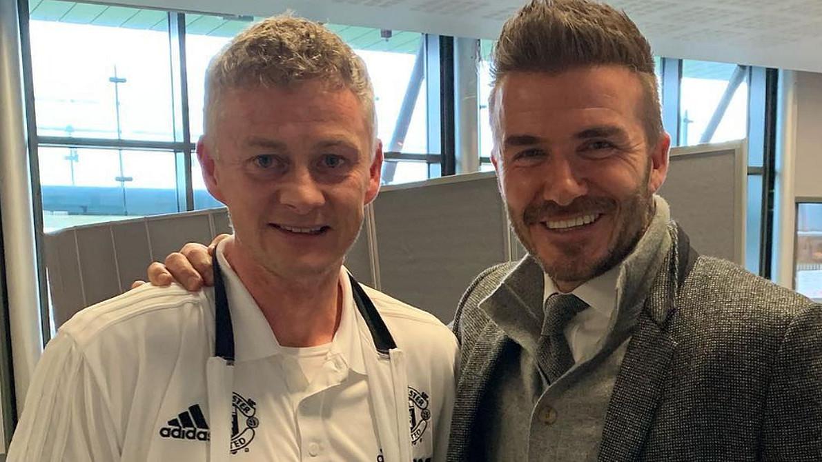 Legendarni Beckham došao da podrži Solskjaera i Crvene đavole