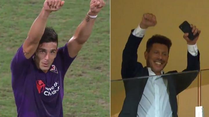 Predivne scene iz Firence: Simeone gol posvetio svom ocu koji je bio na tribinama