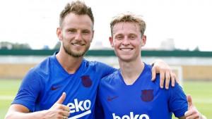 Ivan Rakitić pokazao klasu kada se Frenkie de Jong pojavio na treningu Barcelone