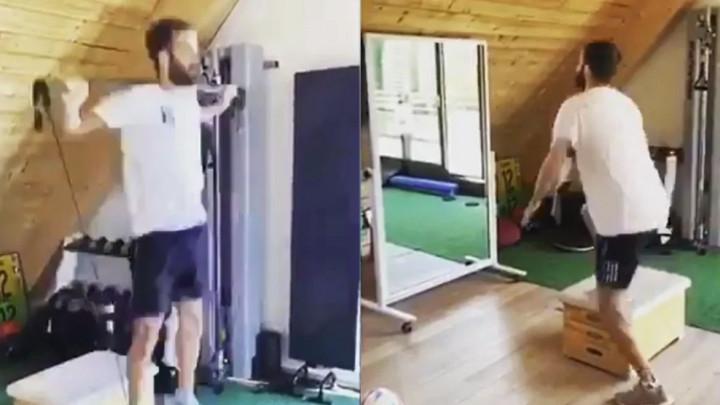 Kako izgleda Pjanićev trening u kućnoj teretani?