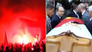 Reyesov kovčeg sa Sevillinog stadiona ispraćen uz suze, himnu, aplauze i spektakularnu bakljadu