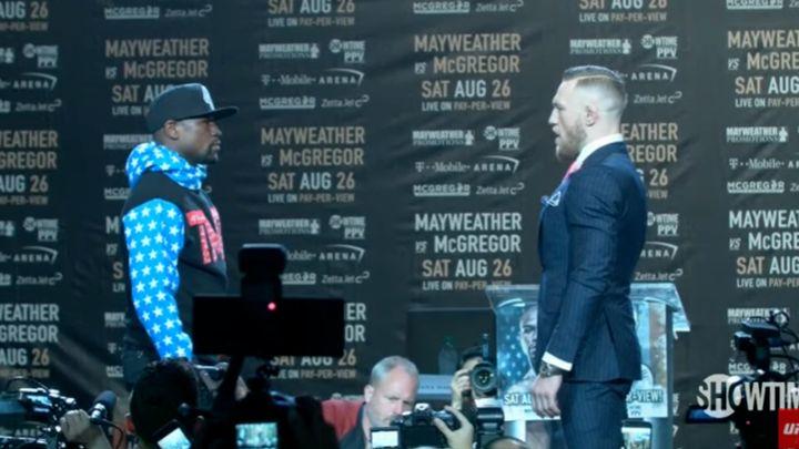 McGregor na sakou ispisao poruku za Mayweathera