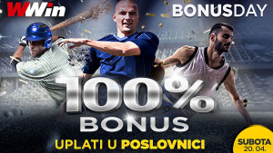 Bonus day u poslovnicama WWin - 100% bonusa na sve uplate danas