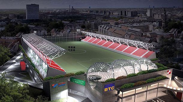 Stadion Voždovca kao na igrici