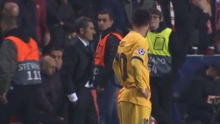 Messi nakon gola Slavije pola minute gledao u Valverdea, a trener Barce nije smio da se okrene