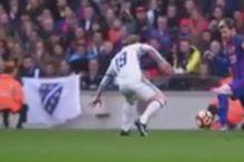 Bivši igrač Želje sa zastavom s ljiljanima na Nou Campu