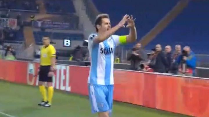 Olimpico proključao nakon osam minuta: Senad Lulić doveo Lazio u vodstvo