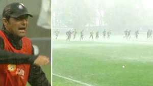 Conte nije dozvolio da se prekine trening, igrači Intera trenirali u nemogućim uslovima