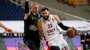 CSKA slavio u Ateni protiv Panathinaikosa